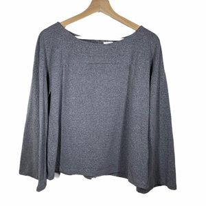A New Day gray flare long sleeve top- size M